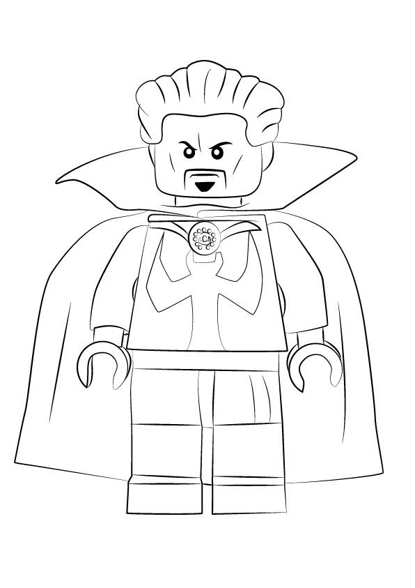 Lego Doctor Strange Coloring Page Free Printable