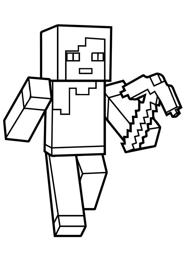 Alex Minecraft Coloring Page Free Printable Coloring