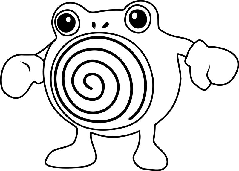 Poliwhirl Pokemon Coloring Page Free Printable Coloring