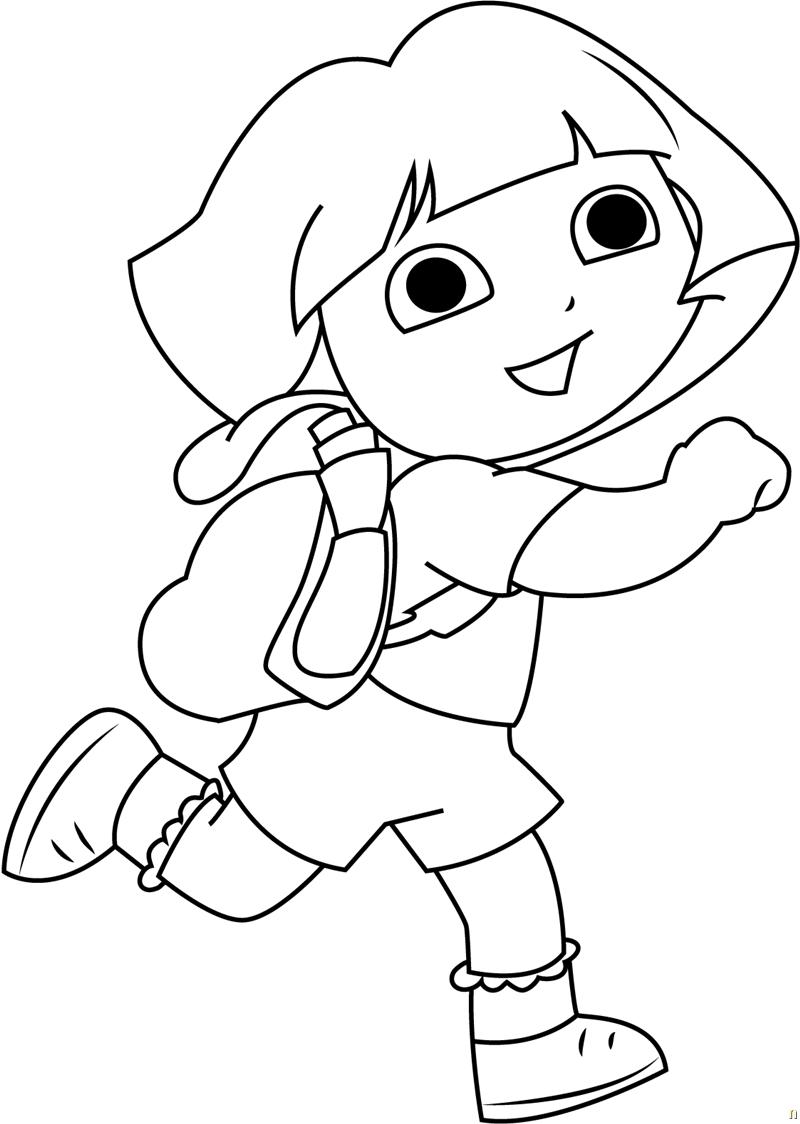 Color Pages Dora - Coloring Home | 1124x800