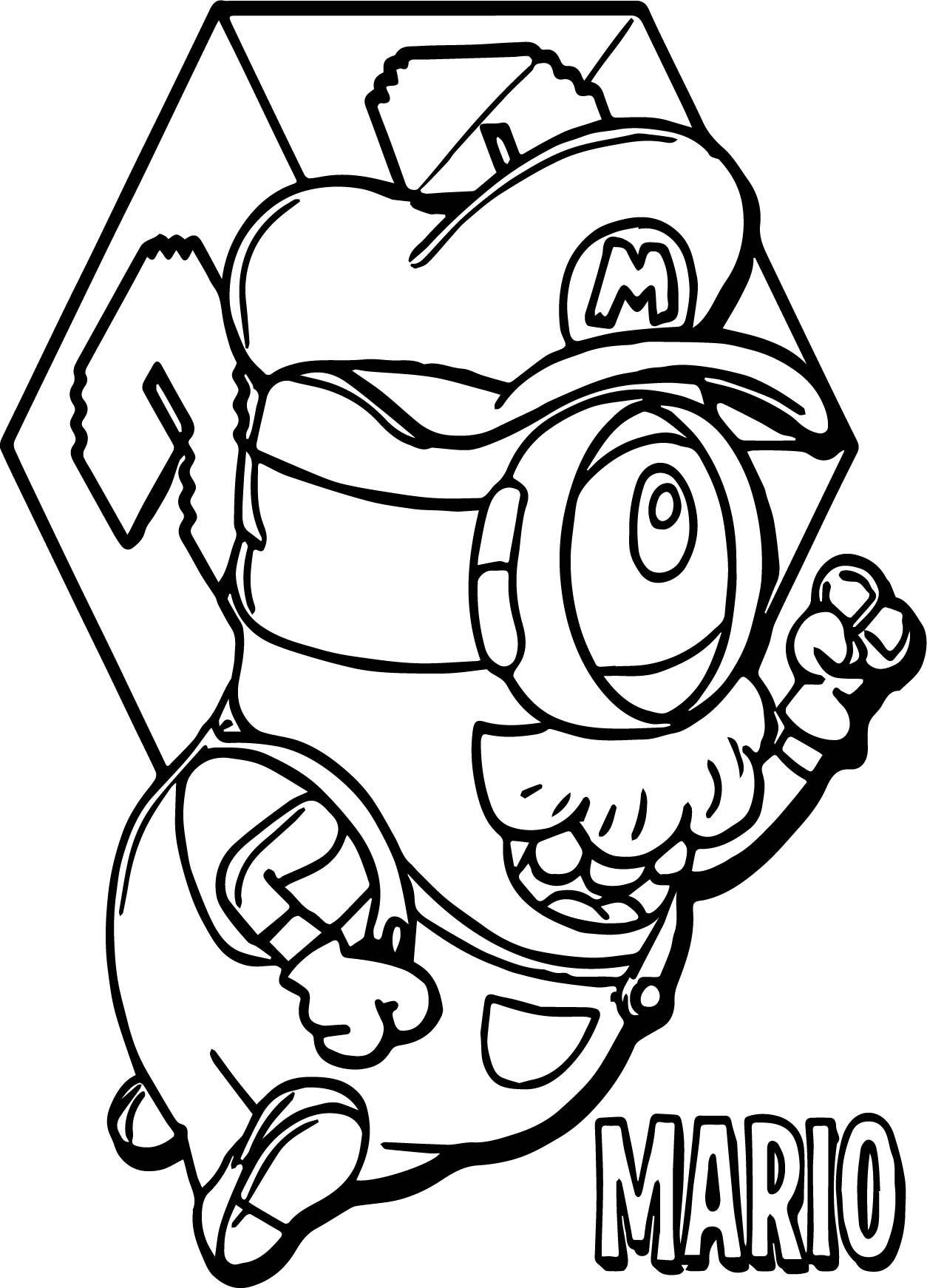 Super Mario Minion Coloring Page Free Printable Coloring