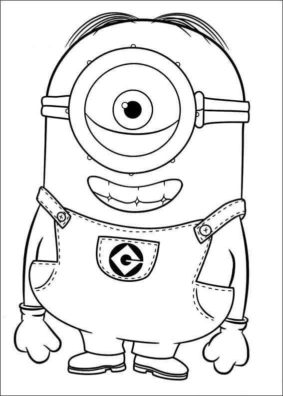 Click The Minion Stuart Coloring Pages