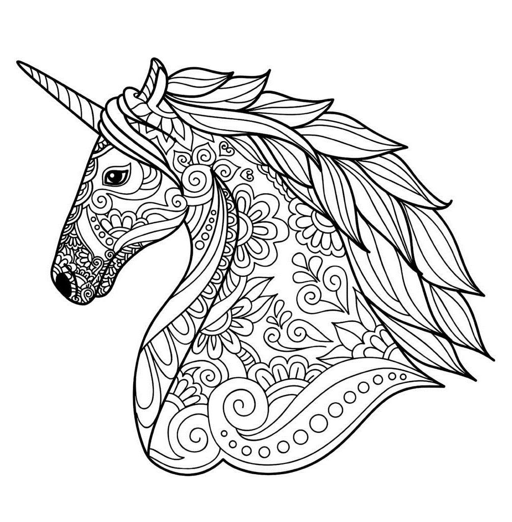 Mandala Unicorn Coloring Page - Free Printable Coloring ...